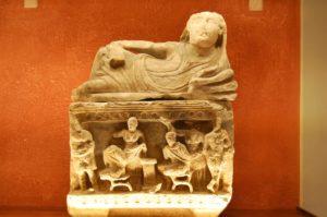 Etruscan Museum treasures in Volterra
