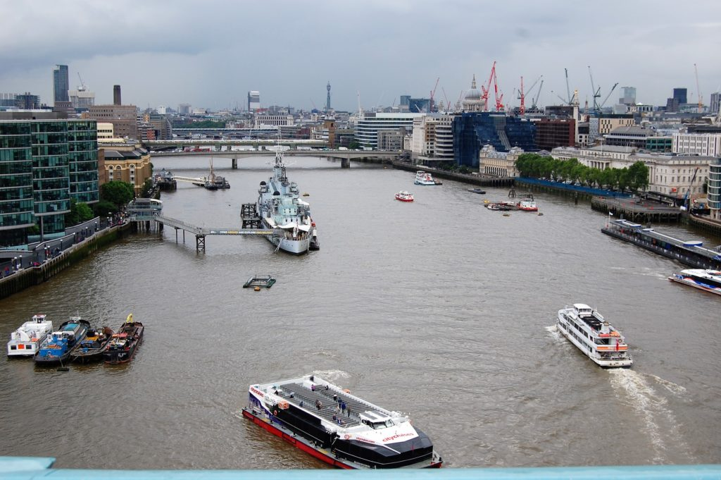 River Thames view tower bridge